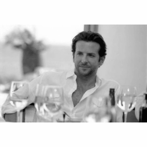 "Bradley Cooper Black and White Poster 24""x36"""