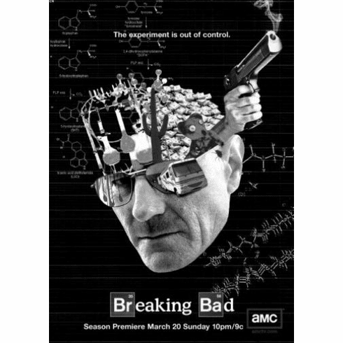 "Breaking Bad Black and White Poster 24""x36"""