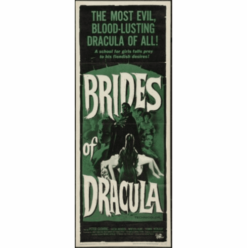 Brides Of Dracula Insert Movie Poster 14x36