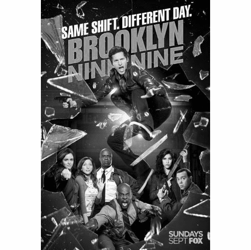 "Brooklyn Nine Nine Black and White Poster 24""x36"""