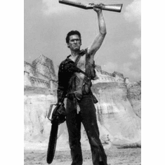 """Bruce Campbell Black and White Poster 24""""x36"""""""