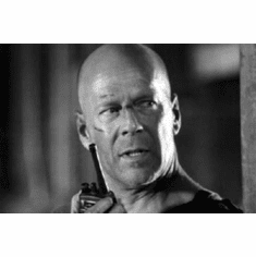 "Bruce Willis Black and White Poster 24""x36"""