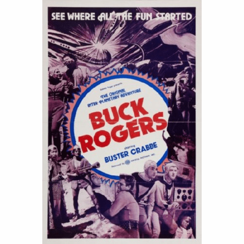 Buck Rogers Movie Poster 24inx36in buster crabbe