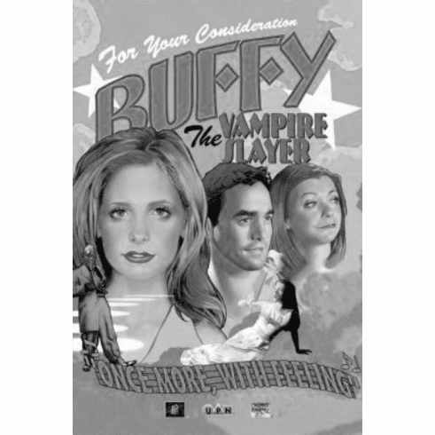"Buffy The Musical Black and White Poster 24""x36"""