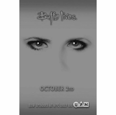 "Buffy The Vampire Slayer Black and White Poster 24""x36"""