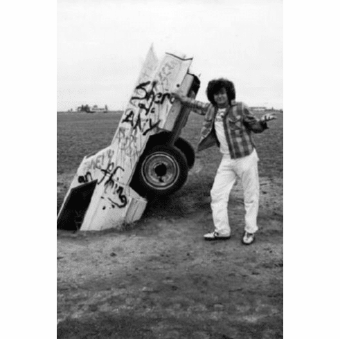 "Cadillac Ranch Black and White Poster 24""x36"""