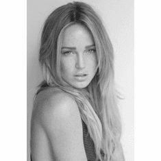 """Caity Lotz Black and White Poster 24""""x36"""""""