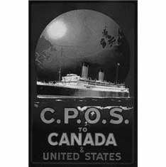 "Canada Cpos  1920 Black and White Poster 24""x36"""