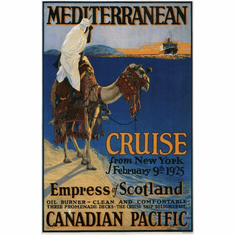 Canadian Pacific Mediterranean Cruise Lines 1925 Poster 24in x36in