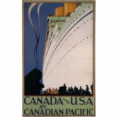 Canadian Pacific Mini poster 11inx17in