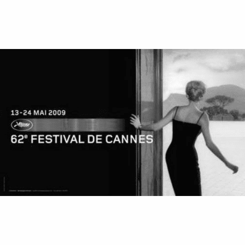 "Cannes Festival Black and White Poster 24""x36"""