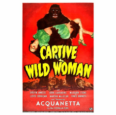 Captive Wild Woman Movie Poster 24inx36in