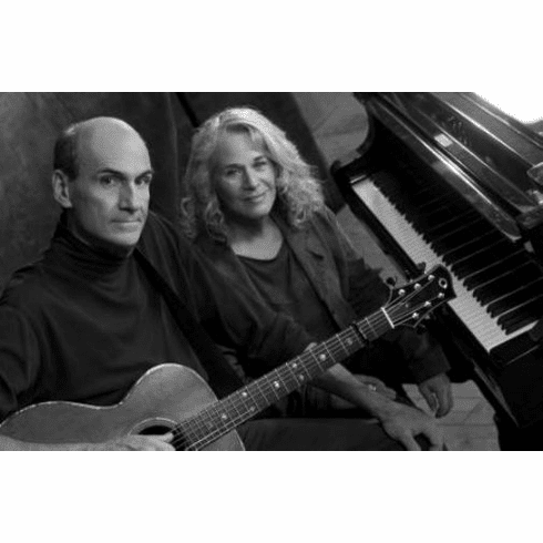 """Carole King James Taylor Black and White Poster 24""""x36"""""""