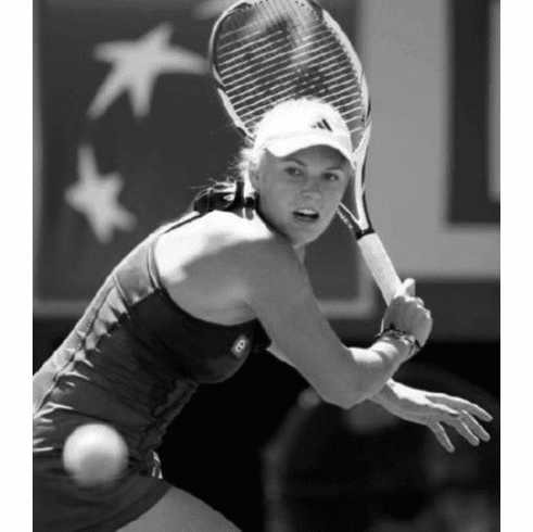 "Caroline Wozniacki Black and White Poster 24""x36"""