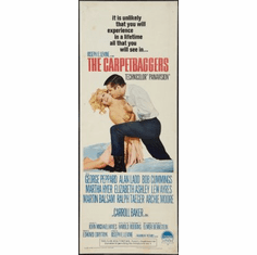 Carpetbaggers The Movie Poster Insert 14x36 #01