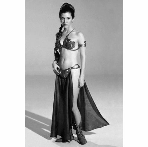 "Carrie Fisher Black and White Poster 24""x36"""