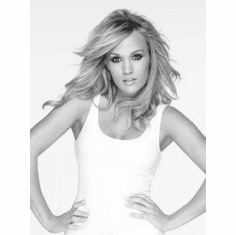 """Carrie Underwood Black and White Poster 24""""x36"""""""