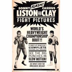 Cassius Clay Sonny Liston Fight Poster 24inx36in