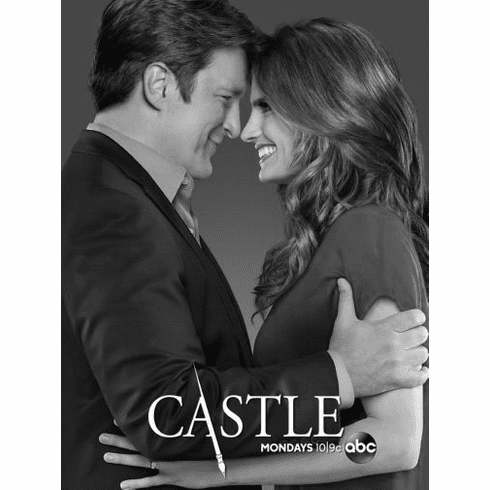 "Castle Black and White Poster 24""x36"""