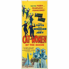 Cat-Women Of The Moon Movie Poster Insert 14x36