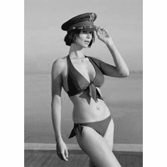 """Catherine Bell Black and White Poster 24""""x36"""""""