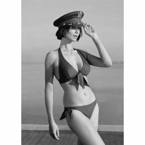 "Catherine Bell Black and White Poster 24""x36"""