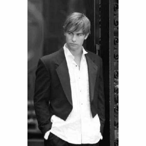 "Chace Crawford Black and White Poster 24""x36"""