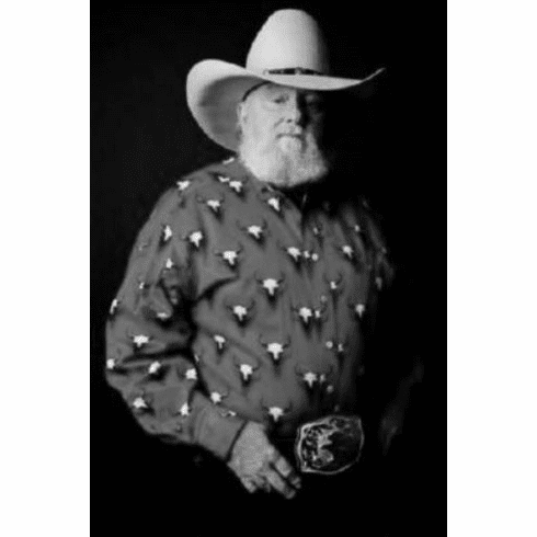 "Charlie Daniels Black and White Poster 24""x36"""