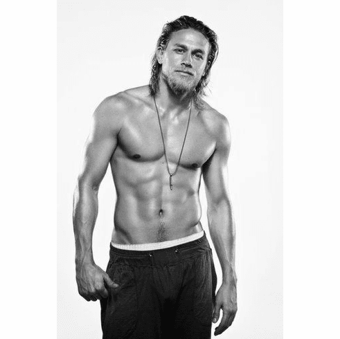 """Charlie Hunnam Black and White Poster 24""""x36"""""""