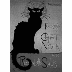 """Chat Noir Black and White Poster 24""""x36"""""""