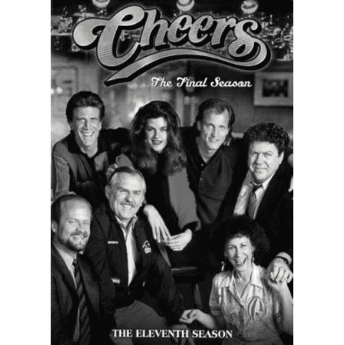 "Cheers Black and White Poster 24""x36"""