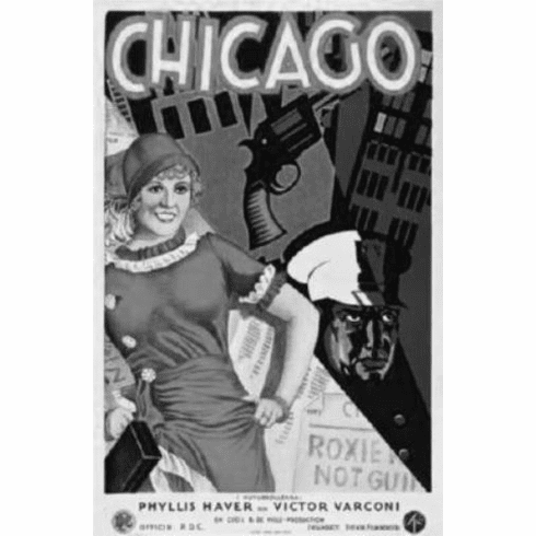 "Chicago 1927 Art Black and White Poster 24""x36"""