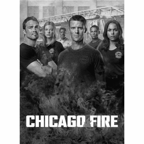 "Chicago Fire Black and White Poster 24""x36"""