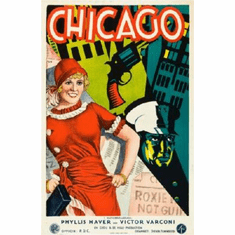Chicago Poster Swedish, Art Deco 24inx36in