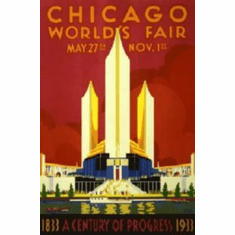 Chicago Worlds Fair Art 8x10 photo Master Print #01