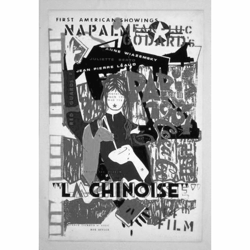 "China La Chinoise Black and White Poster 24""x36"""