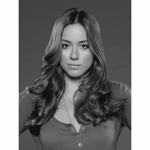 "Chloe Bennet Black and White Poster 24""x36"""