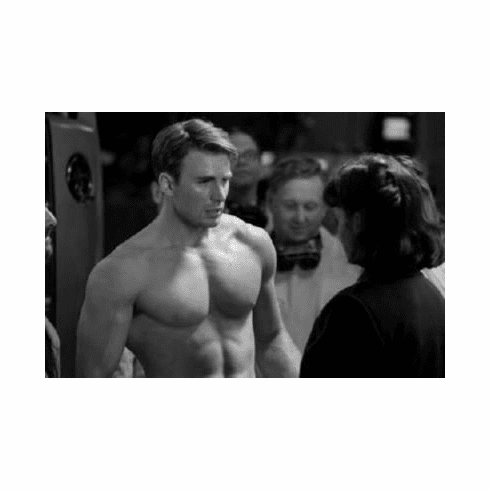 "Chris Evans Black and White Poster 24""x36"""