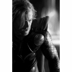"Chris Hemsworth Black and White Poster 24""x36"""
