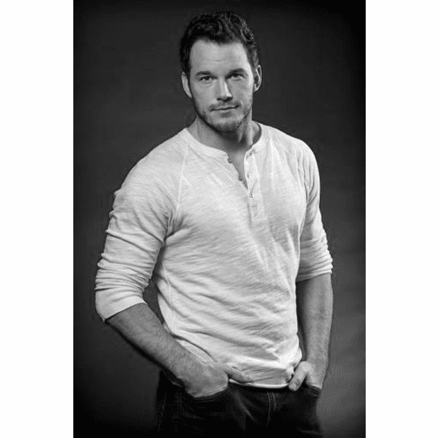 "Chris Pratt Black and White Poster 24""x36"""