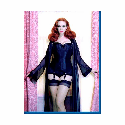 Christina Hendricks Sexy Lingerie Garters Poster 24inx36in