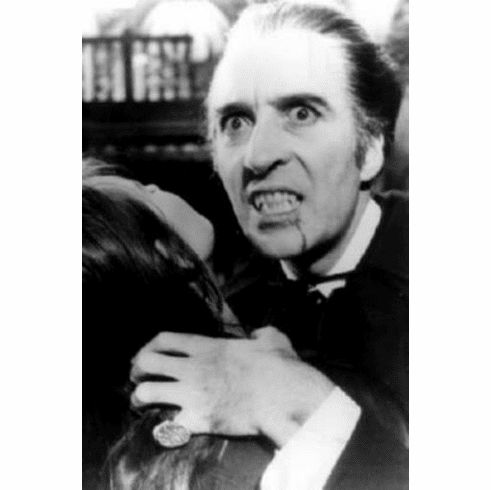 """Christopher Lee Black and White Poster 24""""x36"""""""