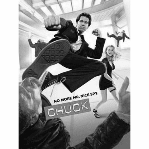 "Chuck Black and White Poster 24""x36"""