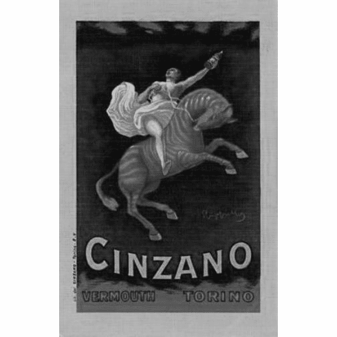 "Cinzano Black and White Poster 24""x36"""