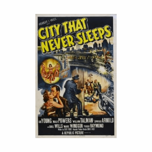 City That Never Sleeps Mini Movie Poster #01 11x17 Mini Poster
