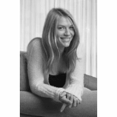 "Claire Danes Black and White Poster 24""x36"""