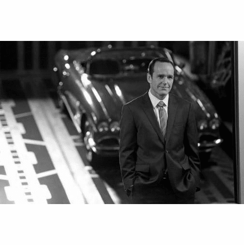 "Clark Gregg Black and White Poster 24""x36"""