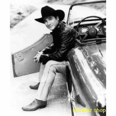 Clint Black Poster Bw Convertible 24inx36in