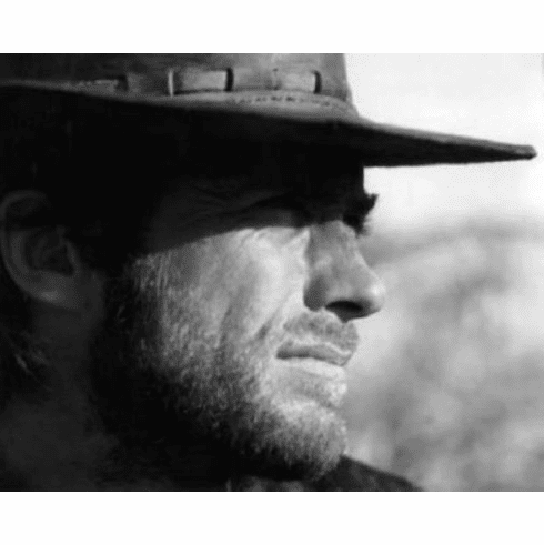 """Clint Eastwood Black and White Poster 24""""x36"""""""