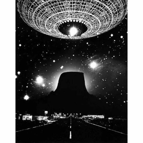 """Close Encounters Of The Third Kind Black and White Poster 24""""x36"""""""